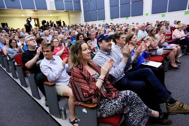 Audience at Alexandria mayoral debate