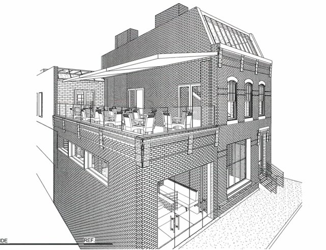 Proposed rooftop dining at 219 Restaurant