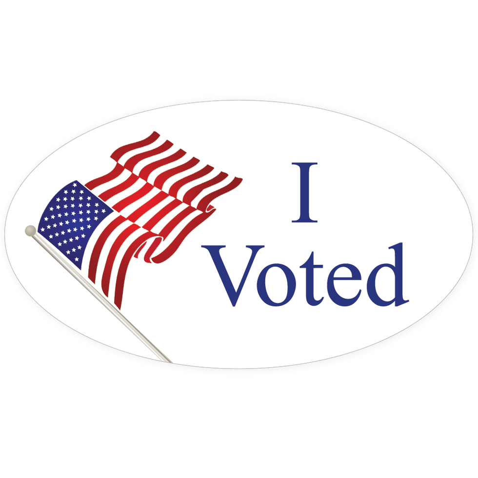photo relating to I Voted Stickers Printable titled Food items, Browsing and Other Personal savings for Voters Tuesday