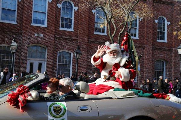 Santa at the Scottish Christmas Walk Parade
