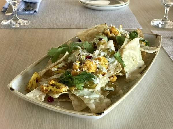 Cauliflower Nachos at Vim & Victor