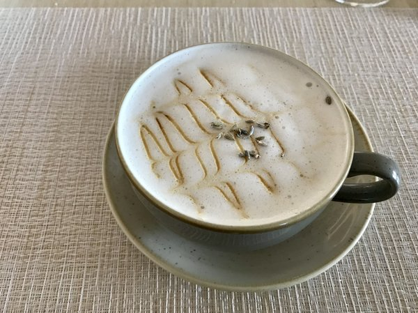Lavender Latte at Vim & Victor