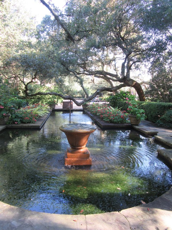 At Bellingrath Gardens and Home, a garden behind the home.