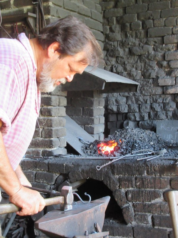 The blacksmith at Fort Gaines.