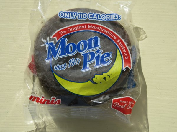 A moonpie, a favored throw from floats in Carnival parades.