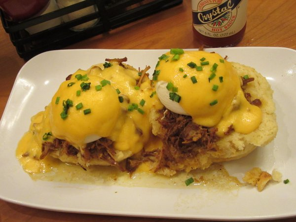 Eggs cochon at the Ruby Slipper.