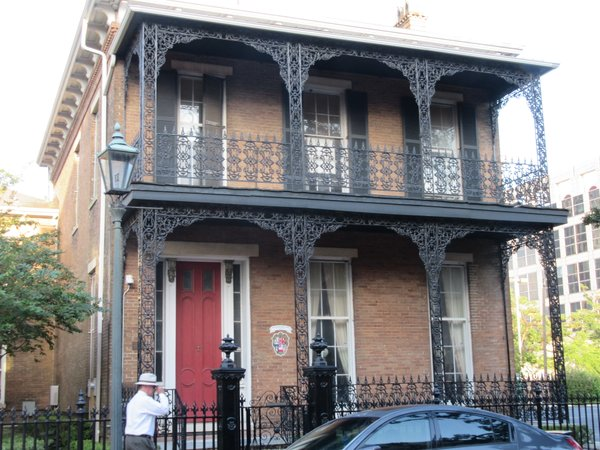 Typical ironwork on many of Mobile's downtown buildings.