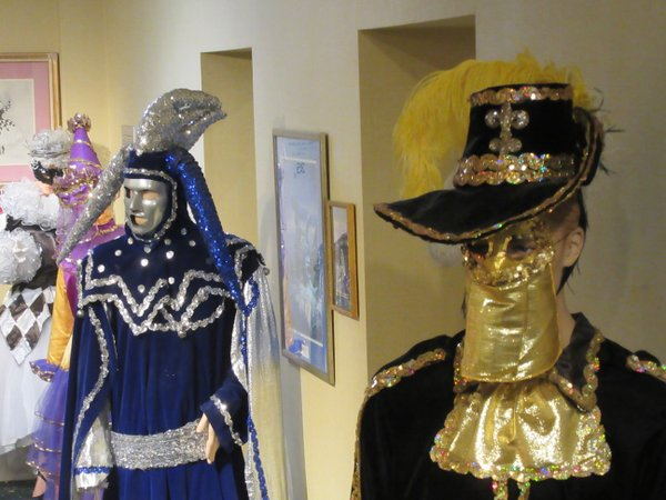 Costumes on display at the Carnival Museum