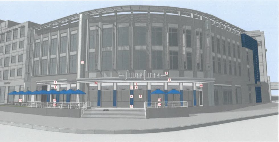 Rendering of Silver Diner location at West Alex