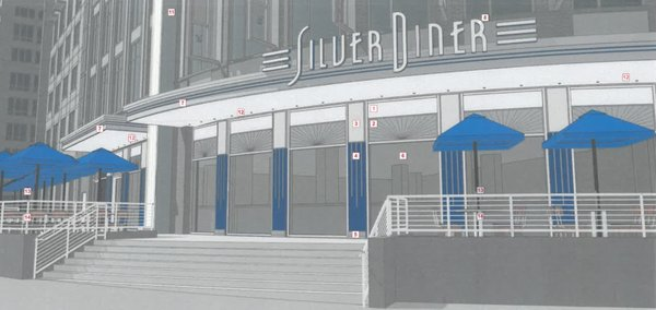 Silver Diner rendering for West Alex