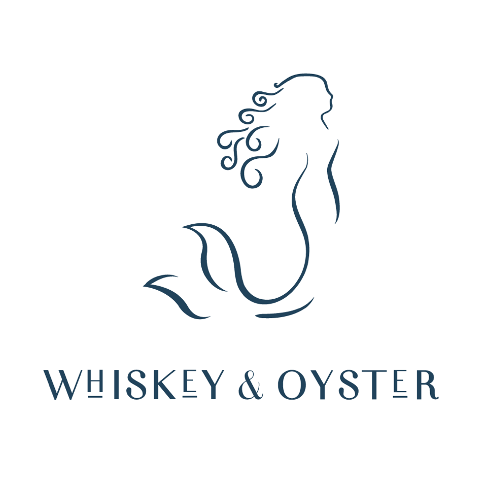 Whiskey & Oyster mermaid logo