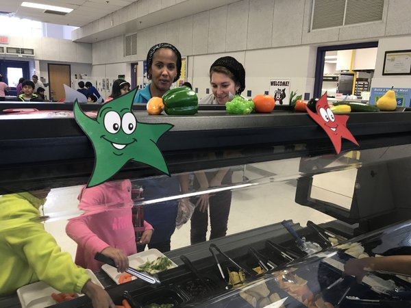 Salad bars come to Fairfax County schools.