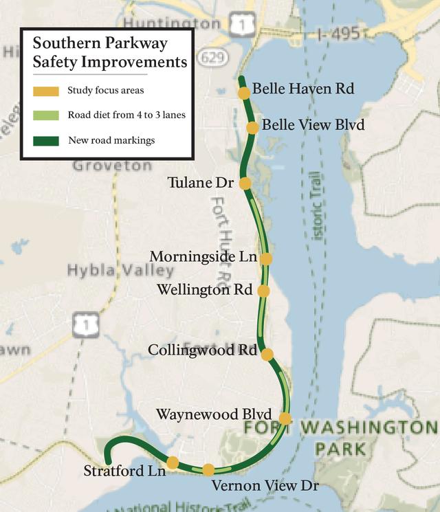 NPS Map of Improvements GW Pkwy.png